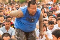 主要天仪式的参加者在能Khong Khuen的 免版税库存照片