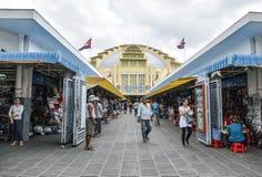 主要市场Phsar Thmei内部在金边 免版税图库摄影