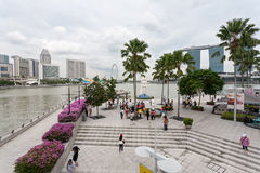 主要散步在新加坡的心脏 免版税库存图片