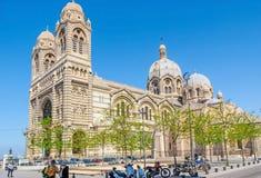 主要正方形在马赛 免版税库存图片