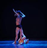 要求和要求帮助差事到迷宫现代舞蹈舞蹈动作设计者玛莎・葛兰姆里 免版税图库摄影