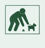 要求狗责任人的符号整理 免版税库存图片