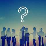 要求的问号混乱想法帮助常见问题解答概念 库存图片