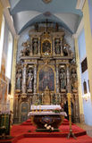 主要法坛在圣亚历山大凯瑟琳教会里在克拉皮纳,克罗地亚 免版税库存照片