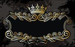 要素框架金子 皇族释放例证