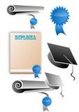 要素毕业图标 库存图片