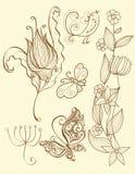 要素花卉集 免版税库存图片