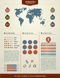 要素infographics集 免版税库存图片