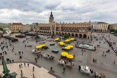 主要集市广场 克拉科夫波兰 库存图片