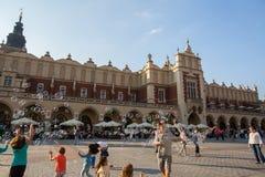 主要集市广场 波兰,克拉科夫 免版税库存图片