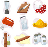 要素厨房厨具集 免版税库存照片