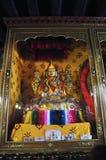 主要Tsong Khapa雕象在哲蚌寺 图库摄影