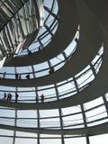 覆以圆顶玻璃reichstag 免版税图库摄影