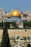 覆以圆顶耶路撒冷岩石 免版税图库摄影