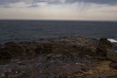 覆盖在风暴的海洋 免版税图库摄影