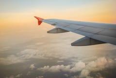 覆盖在飞机上的天空到柬埔寨,吴哥城, Siemreap,柬埔寨 图库摄影