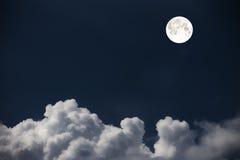 覆盖天空和月亮,一张美妙的拼贴画 图库摄影