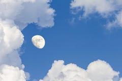 覆盖天空和月亮,一张美妙的拼贴画 库存照片