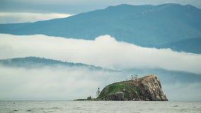 覆盖时间间隔 山和湖风景 自然 股票录像