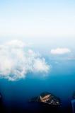 覆盖海岛平面视图视窗 库存照片