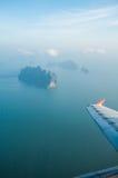 覆盖海岛平面视图视窗 免版税库存图片