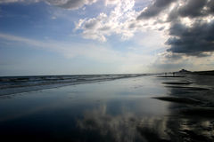 覆盖海洋风暴 免版税库存图片