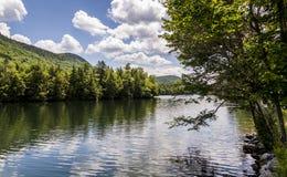 覆盖湖本质天空 免版税库存照片