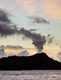 覆盖火山口金刚石题头 免版税图库摄影
