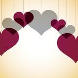 覆盖物心脏卡片 库存图片