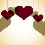 覆盖物心脏卡片 库存照片