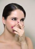覆盖物手指鼻子 图库摄影