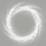 覆盖物扭转的闪烁彗星足迹的火光作用 10 eps 库存例证