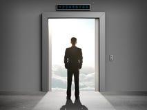 覆盖的电梯 免版税库存照片