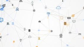 覆盖计算,云彩技术的IT概念 库存图片