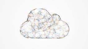 覆盖计算,云彩技术的IT概念 图库摄影