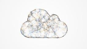 覆盖计算,云彩技术的IT概念 免版税库存图片