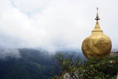 覆盖金黄岩石 图库摄影