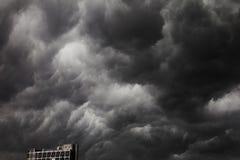 覆盖黑暗的严重的风暴 图库摄影