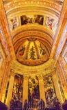 覆以圆顶法坛旧金山el重创的皇家马德里西班牙 免版税库存照片