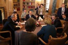 见面在欧洲和亚洲领导ASEM峰会  库存照片