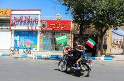 见面在设拉子,伊朗 库存照片