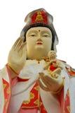 观世音菩萨雕象特写镜头  免版税库存照片