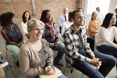 观众偶然会议大会研讨会概念 免版税图库摄影