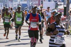 观众和赛跑者Marathon同志的在德班19 免版税图库摄影