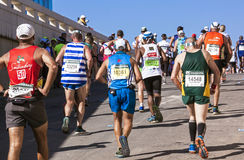 观众和赛跑者Marathon同志的在德班7 库存图片