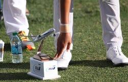 观众和画廊在阿那启发打高尔夫球比赛2015年 免版税图库摄影