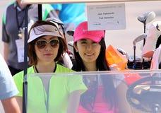 观众和画廊在阿那启发打高尔夫球比赛2015年 库存图片