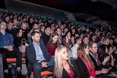 观众在业务会议 免版税库存图片