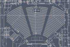 观众席计划位子 免版税库存图片