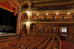 观众席guanajuato juarez teatro 免版税库存照片